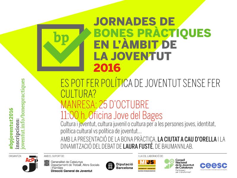 25/10/16/ Jornada de bones pràctiques a Manresa: la cultura