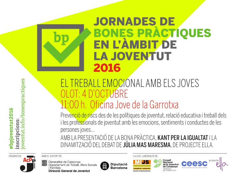 4/10/16/ Jornada de bones pràctiques a Olot: el treball emocional